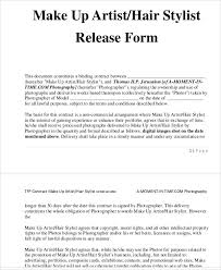 photographer release forms sample talent release form 10 free
