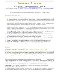 entertainment resume template college position papers publications television executive producer