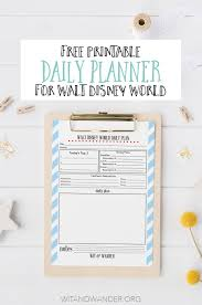 free printable 2016 day planner free printable walt disney world daily planner our handcrafted life