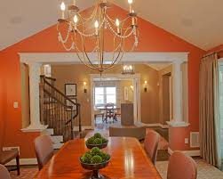 orange dining room unique dining room columns in other feel it home interior