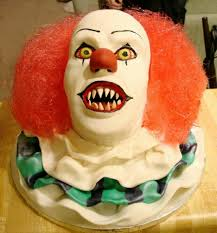 Scary Halloween Cake Ideas Scary Clown Cake Birthday Cakes Pinterest Clown Cake Cake