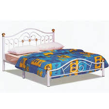dhome queen size metal bed frame white 11street malaysia beds