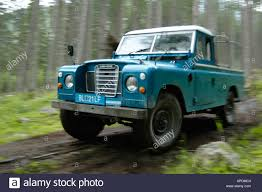land rover series 3 109 speeding land rover serie 3 109 truck cab lwb blue with white roof