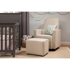 Da Vinci Emily Mini Crib by Davinci Olive Upholstered Swivel Glider With Bonus Ottoman