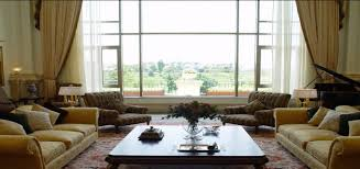 interior modern living room with double sofa and single large