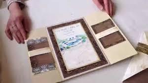 gatefold wedding invitations gatefold wedding invitation with painted artwork