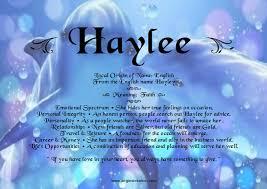origin of the word love haylee unique names