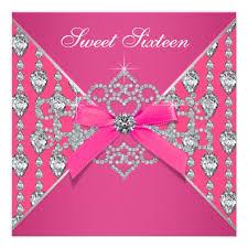 personalized pink sweet sixteen birthday invitations