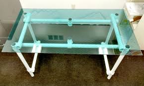Diy Glass Desk How To Build Your Own Glass Desk With Pipe Simplified Building