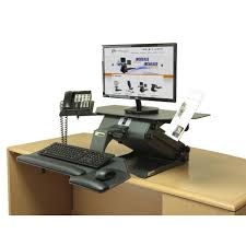 Electric Sit Stand Desk by Healthpostures 6100 Taskmate Executive Sit Stand Desks