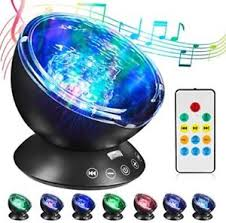 sound machine with light projector ocean wave projector night light projector hogartech sleep sound