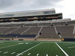 Notre Dame Stadium Map Curtain Rises On Notre Dame Stadium Renovations Notre Dame