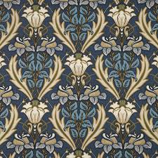 Curtain Fabric Ireland Acanthus Fabric Navy Acanthusnavy Iliv Art Deco Navy Fabrics