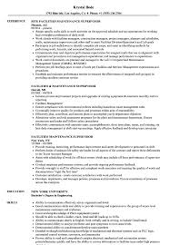 facilities maintenance supervisor resume sles velvet