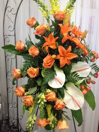 funeral arrangement illinois florist fabbrinis flowers standing arrangements