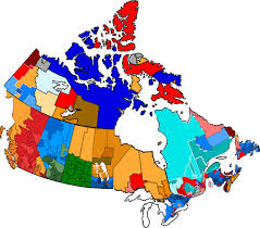 Map Of Canada by Provincial Governments Map Of Canada Rough Visual Canadapolitics