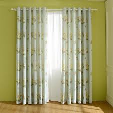 the 4th page of vintage floral curtains blue pink yellow black