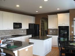kitchen off white kitchen cabinets with black countertops white