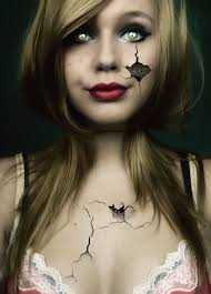 halloween airbrush makeup broken doll makeup i think this is really lovely as it is simple