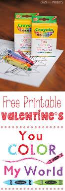 crayon valentines color my world printable