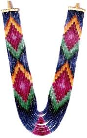 sapphire necklace price images Rainbow gems ruby emerald sapphire stone necklace price in india jpeg