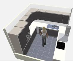 cuisine carré idee plan cuisine installez des nons sous les tagres pour