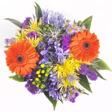 Purple Flowers Centerpieces by Centerpieces Orange And Purple Flowers