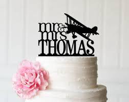 airplane cake topper biplane cake topper etsy