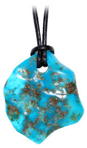 leather necklace turquoise stone images Turquoise stone amazon co uk jpg