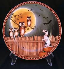 david carter brown pumpkin hollow dog fence bats owls halloween