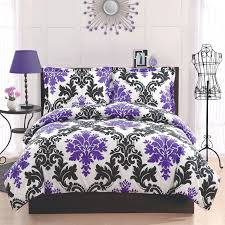 Black And Purple Bed Sets Bedroom Black And White And Purple Bedding Large Porcelain Tile