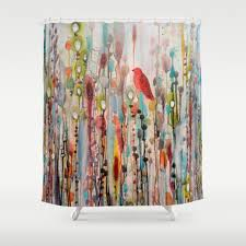 Artistic Shower Curtains Shower Curtain And Animal Bird Bathroom 90 Trendy Shower
