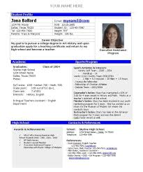 athletic resume college athlete resume best resume collection
