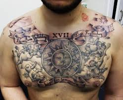 amazing stomach and chest tattoos for photo 3 photo