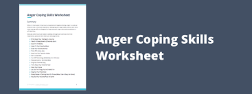 coping skills worksheets u0026 techniques for anger management theranest