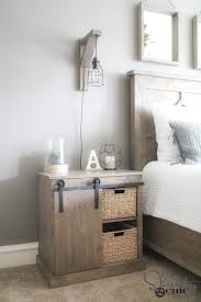 barn door side table sliding barn door nightstand diy shanty 2 chic