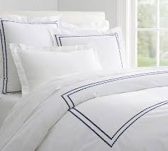 pearl embroidered 280 thread count duvet cover u0026 sham pottery barn