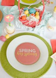 easter table favors has sprung easter party tablescape by the day