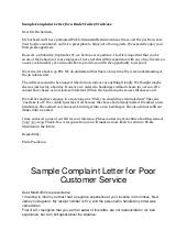 format of a letter of complaint published