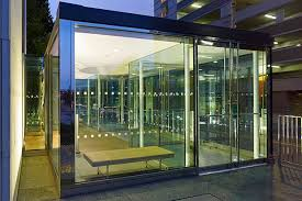 entry vestibule a frameless glass entrance portal separates the new vestibule from