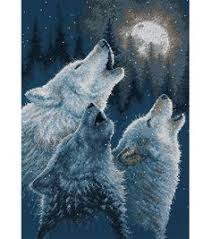 joann fabrics website three wolves howling at the moon cross stick pattern from joann