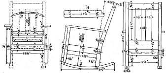 Free Patio Rocking Chair Plans by Rocking Chair Drawing A For Design