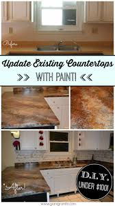kitchen makeover on a budget refresh existing countertops with