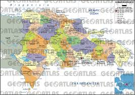 Map Dominican Republic Geoatlas Countries Dominican Republic Map City Illustrator