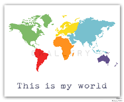 Printable World Map 36 World Map Wall Art For Kids Kids Wall Art World Map Print