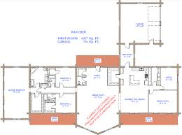 ranch log home floor plans rancher plan 4 527 sq ft cowboy log homes