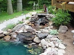 Fish For Backyard Ponds Interior Foundtain Water Fall Backyard Pond Koi Fish Making A