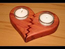 Free Easy Wood Projects For Beginners by Easy Scroll Saw Project A Broken Heart Candle Holder