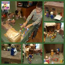 make a toy stable and manger