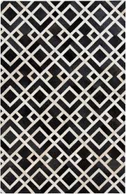 Modern Geometric Rugs by In A Bold Contrasting Geometric Design This Hair On Hide